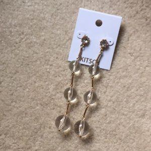 Kitsch clear ball long earrings